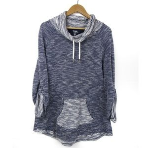 Kensie Performance Cowl Neck Sweatshirt Quick Dry